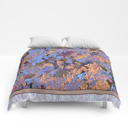 MAGIC THIMBLEBERRY ORANGE AND BLUE Comforters