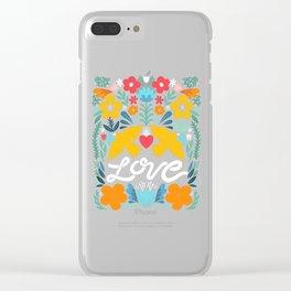 Love bird garden Clear iPhone Case