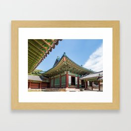 Blue Tile Roof, Changdeokgung Palace, Seoul Framed Art Print