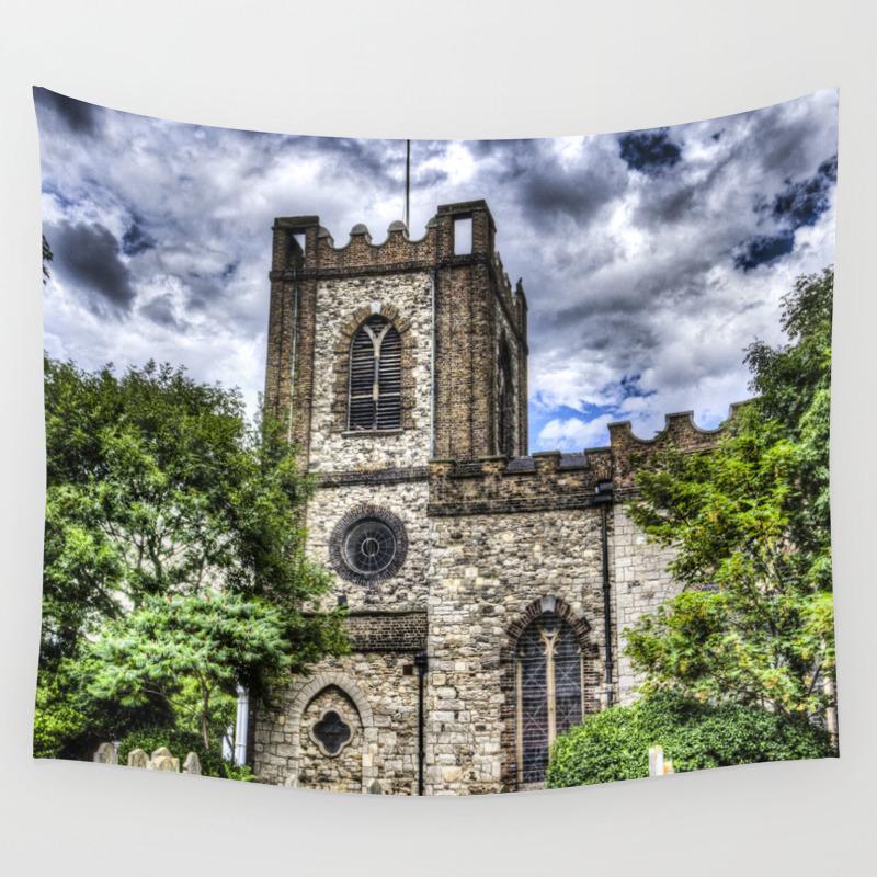 Dagenham Village Church Wall Tapestry by Davidpyatt TPS2414095