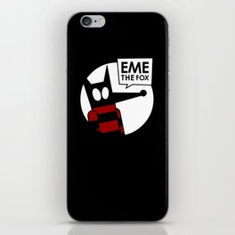 Eme - Black iPhone Skin