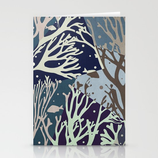 Under the Sea - Abstract Stationery Cards