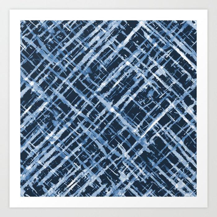Criss Cross Watercolor Stripes Kunstdrucke