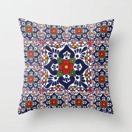 talavera mexican tile pattern Throw Pillow