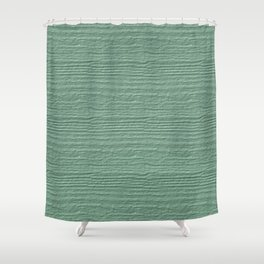 Grayed Jade Wood Grain Color Accent Shower Curtain