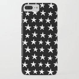 Star Pattern White On Black iPhone Case