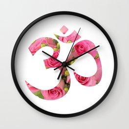 Aum Rose Harmony Om Wall Clock