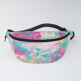 Abstract Mixed Media - Neon Fanny Pack