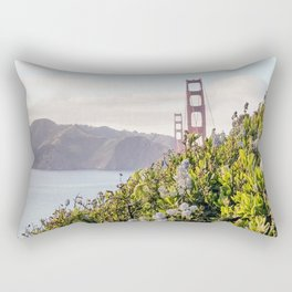 The Golden Gate Bridge in Spring Rectangular Pillow