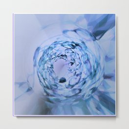 diamond in blue light Metal Print