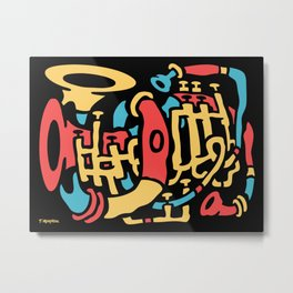 Horn Composition Metal Print