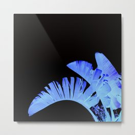 Neon Glow Tropical Palm Fronds Metal Print