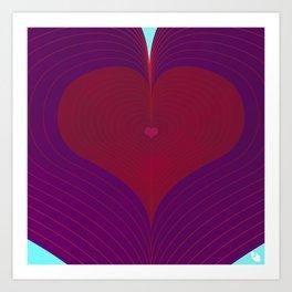 I Heart Lines Art Print
