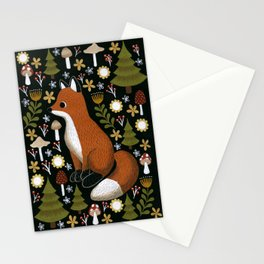hello fox Stationery Cards