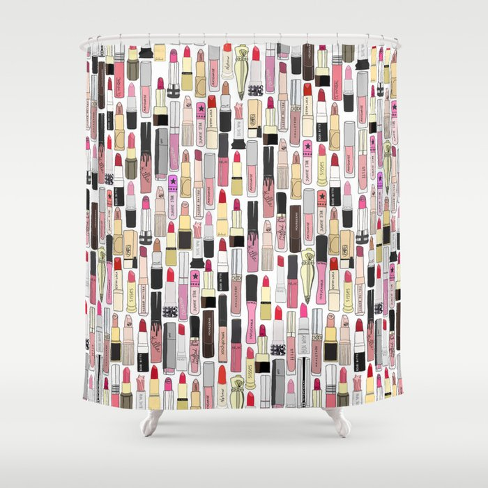 Lipstick Decoys Shower Curtain By Notsniw