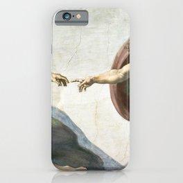 Michelangelo The Creation Of Adam Ultra HD iPhone Case