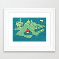 neverland Framed Art Prints featuring Neverland by Quinn Shipton