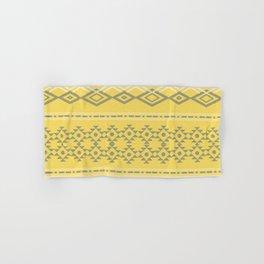 Pantone Yellow Grey Tribal  Hand & Bath Towel