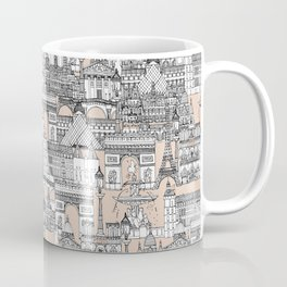 Paris toile sugar pink Coffee Mug