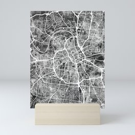 Nashville Tennessee City Map Mini Art Print