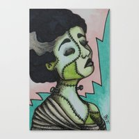 bianca green Canvas Prints featuring Bianca by Sarah Huth