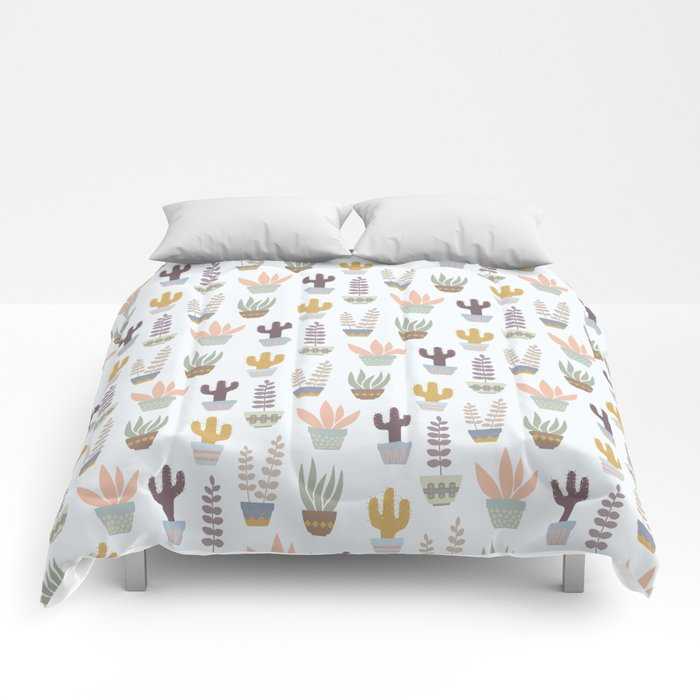 Flower pattern in pots Comforters