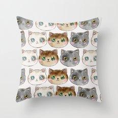 Meow Meow Purr Purr Throw Pillow