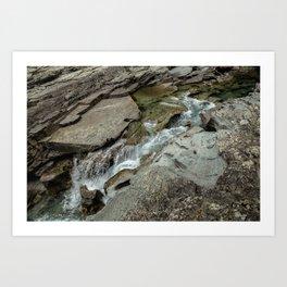 Cutting Through - Glacier NP Art Print