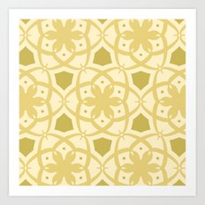 Pattern Print Edition 1 No. 1 (cream) Art Print