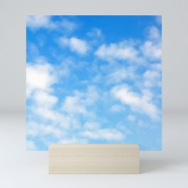 Blue Sky Sunny Day Pattern Mini Art Print