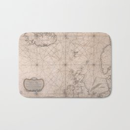 Portolan map of the North Sea, the Norwegian Sea with adjacent coast and countries 1768 Bath Mat