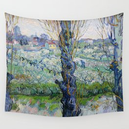"Vincent Van Gogh ""View of Arles, Flowering Orchards"" Wall Tapestry"