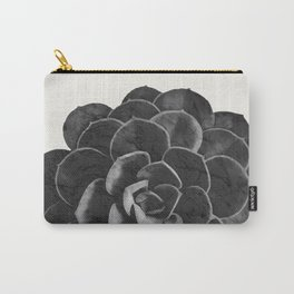 Succulent Black Marble Carry-All Pouch