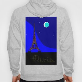 Paris at night in a Starry Sky Hoody
