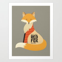 Hello Red Fox Art Print