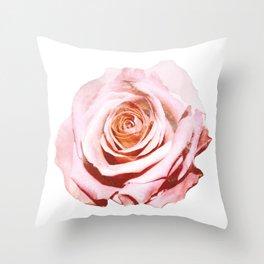 Photomanipulation   Pink Rose Throw Pillow
