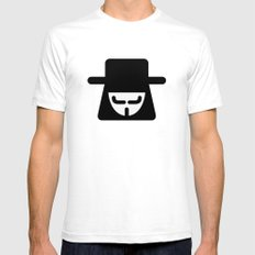 v vendetta White SMALL Mens Fitted Tee