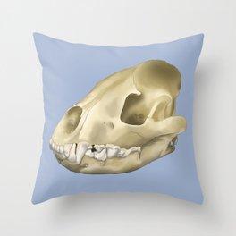 hyena skull Throw Pillow