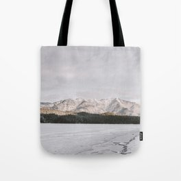 Frozen Lake Views - Landscape Photography Tote Bag