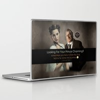 beauty and the beast Laptop & iPad Skins featuring Beauty & Beast by ProverbsDaily