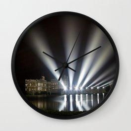 Leeds Castle Laser Light Display Wall Clock
