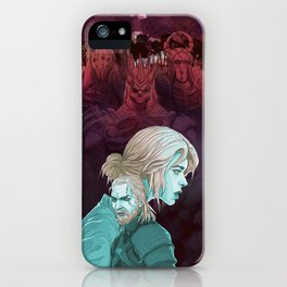 skeleton gang chases dad and daughter iPhone Case