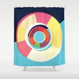 Lifesaver Circle Shower Curtain