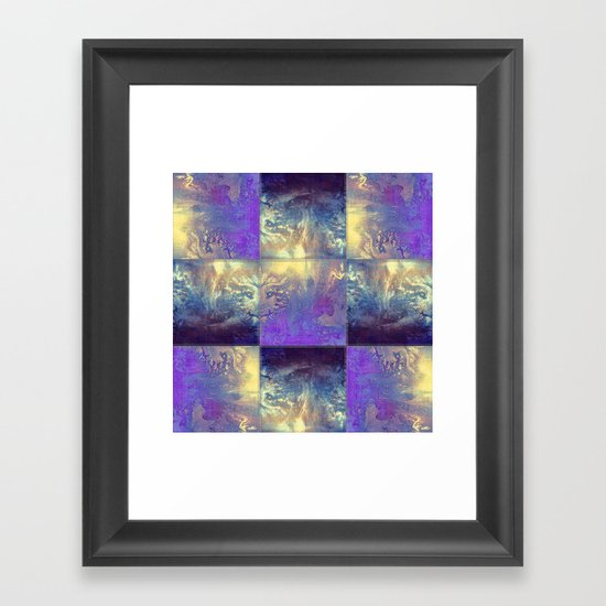 Abstract Silver Stiched canvas by k9printart