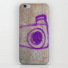 Purple Camera Graffiti iPhone & iPod Skin