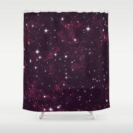 Burgundy Space Shower Curtain