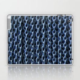 Teal Chains Laptop & iPad Skin