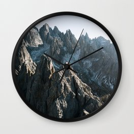 Dolomites Mountains - Landscape Photography Wall Clock