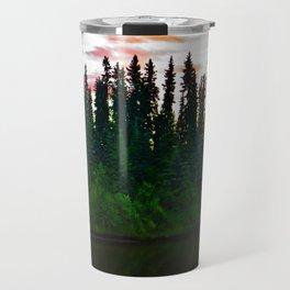 Summer Sun Almost Sets in Alaska Travel Mug