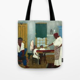 African American Masterpiece 'Saturday Morning Breakfast' by Horace Pippin Tote Bag